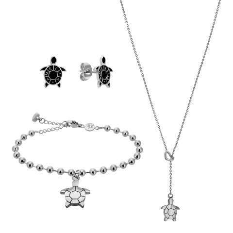Amelia Parker Silver Turtle Jewellery Set