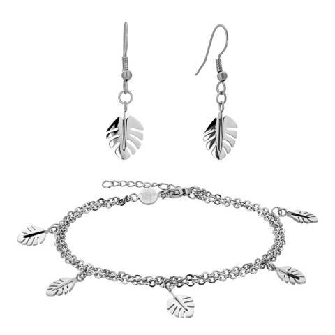 Amelia Parker Silver Palm Tree Jewellery Set