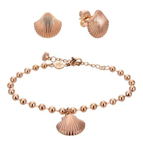 Amelia Parker Rose Gold Shell Jewellery Set