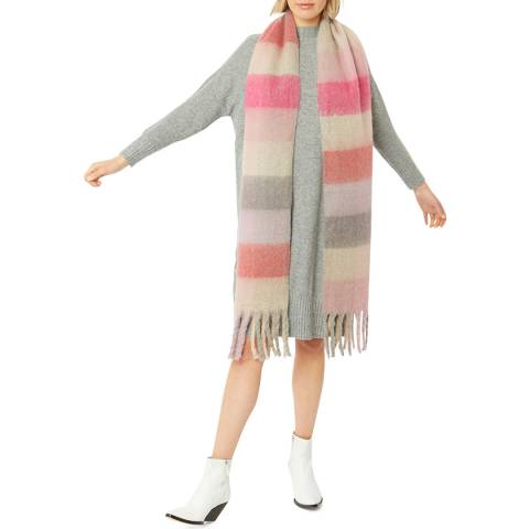 JayLey Collection Pink Cashmere Blend Wrap