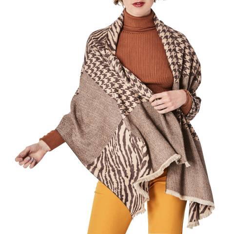 JayLey Collection Brown Cashmer Blend Wrap