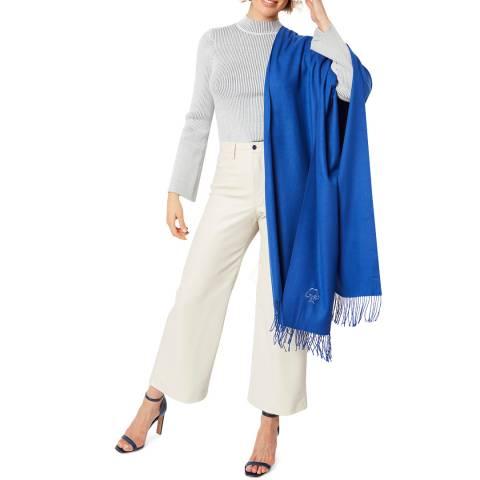 JayLey Collection Blue Cashmere Blend Scarf