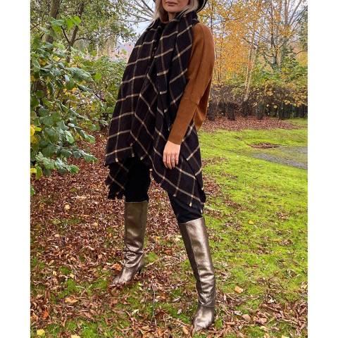 JayLey Collection Black Cashmere Blend Wrap