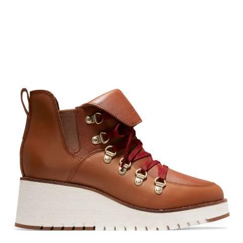 Cole Haan Brown Zerogrand Wedge Hiker Boots