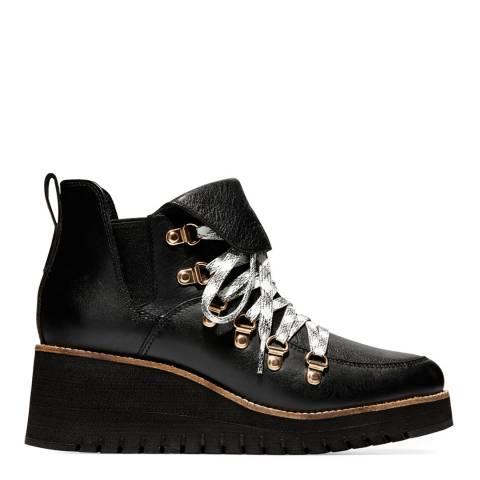 Cole Haan Black Zerogrand Wedge Hiker Boot