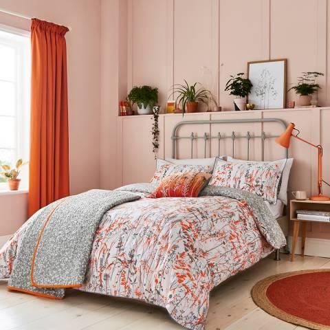 Clarissa Hulse Prarie Single Duvet Cover Set, Orange