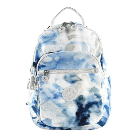 Kipling Tie Dye Blue Seoul Backpack