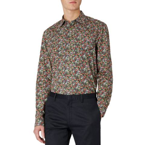 PAUL SMITH Navy/Multi Floral Slim Fit Shirt