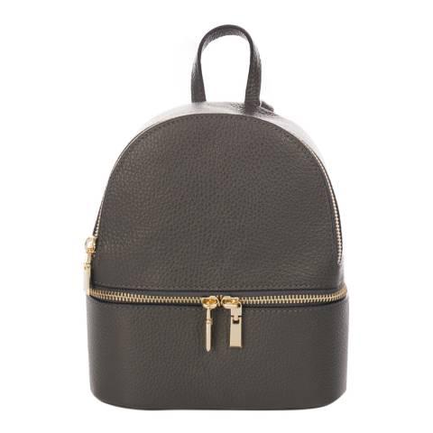 SCUI Studios Dark Grey Leather Backpack