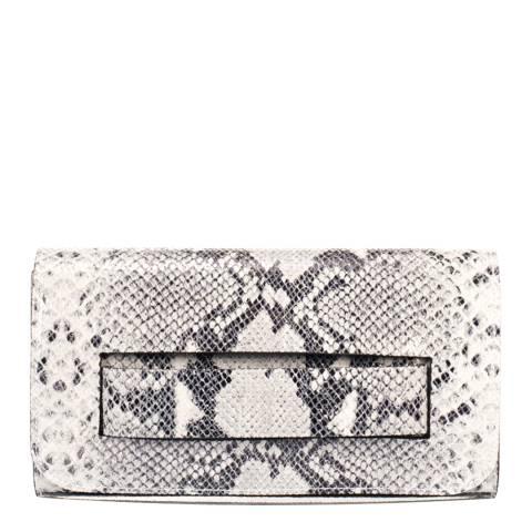 Giorgio Costa White Leather Clutch Bag