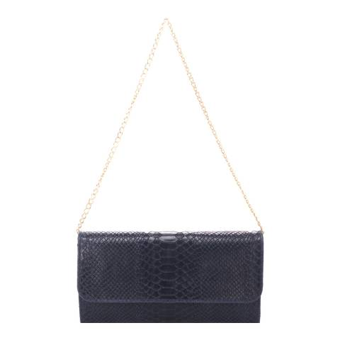 Giorgio Costa Dark Blue Suede Clutch Bag