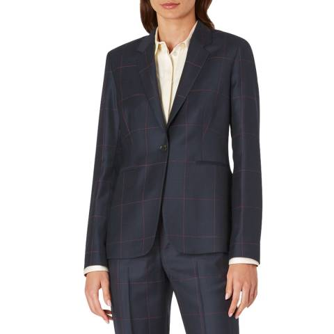 PAUL SMITH Midnight Check Wool Blazer