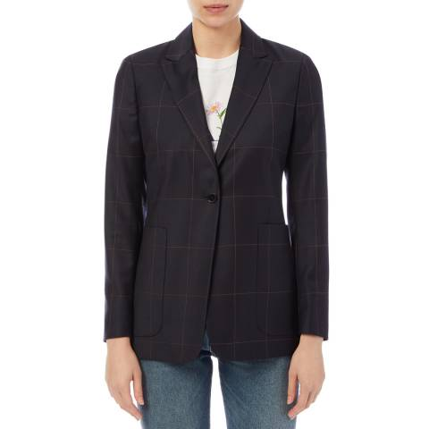 PAUL SMITH Midnight Check Pocket Wool Blazer