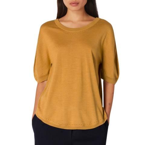 PAUL SMITH Mustard Wool/Silk Knit Top