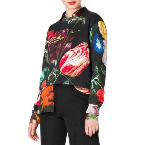 PAUL SMITH Multi Floral Cotton Sweatshirt