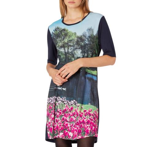 PAUL SMITH Midnight Printed Relaxed Dress