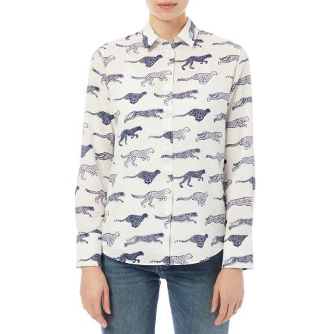 PAUL SMITH Off White Cheetah Shirt