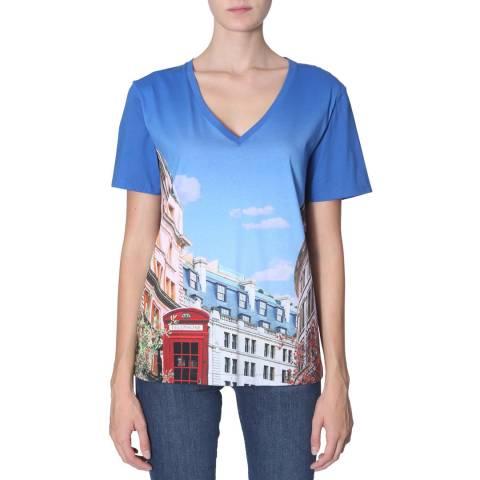 PAUL SMITH Multi Printed Cotton T-Shirt