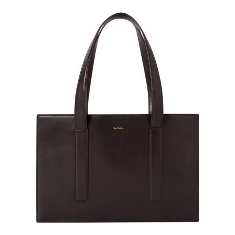 PAUL SMITH Black Leather Tote Bag