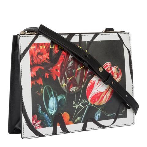 PAUL SMITH Printed Leather Crossbody Dutch Bag