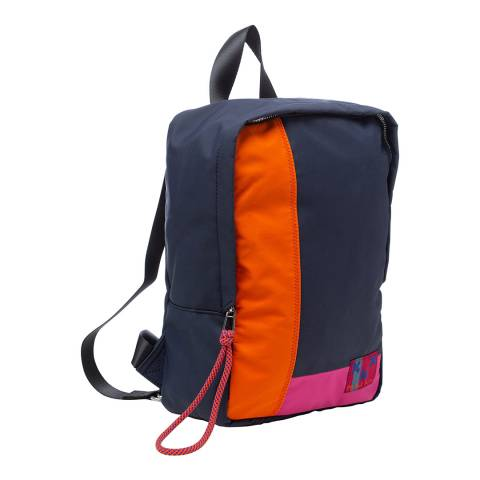 PAUL SMITH Navy/Orange/Pink Patchwork Backpack