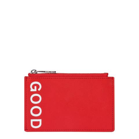 PAUL SMITH Coral Red Zip Good Purse