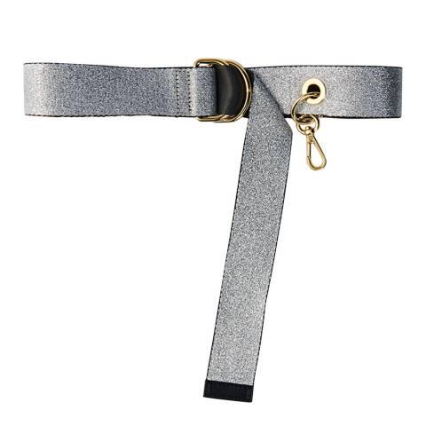 MAJE Silver Strappy Belt With Removable Hook