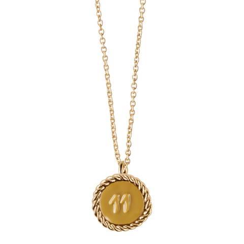 MAJE Gold COLLIER NUMERO 11