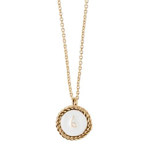 MAJE Gold Number 6 June Necklace
