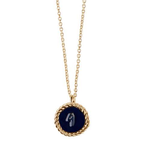 MAJE Gold Number 9 September Necklace