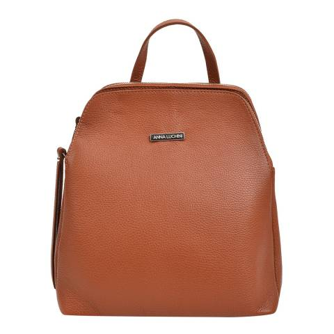 Anna Luchini Cognac Leather Backpack