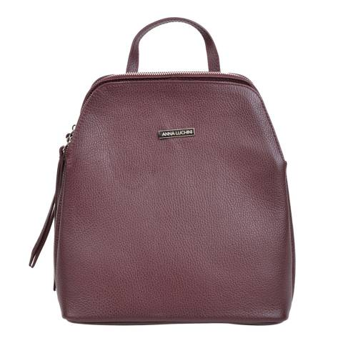 Anna Luchini Red Leather Backpack