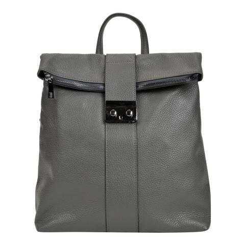 Isabella Rhea Grey Leather Backpack