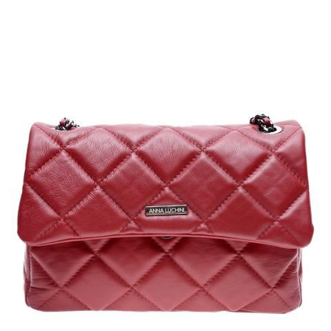 Anna Luchini Red Leather Shoulder/Crossbody Bag