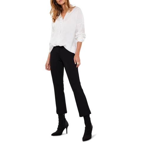Mint Velvet Black Ponte Kickflare Trousers