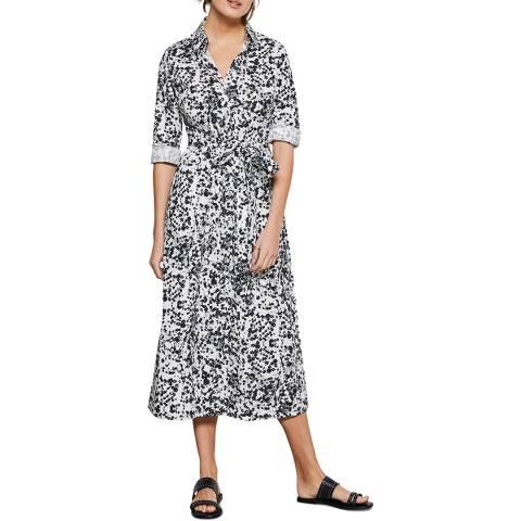 Mint Velvet Pepper Print Belted Midi Dress