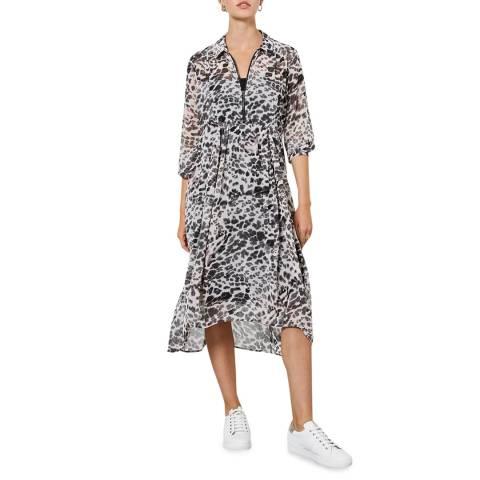 Mint Velvet Amber Animal Cocoon Midi Dress
