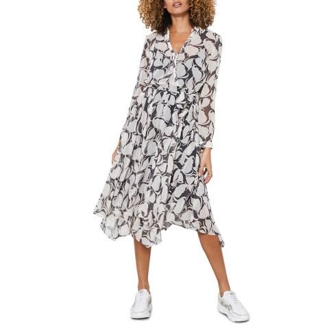 Mint Velvet Olivia Print Wrap Midi Dress