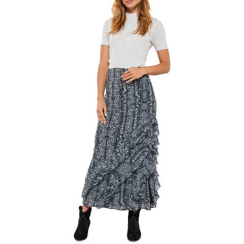Mint Velvet Kiera Animal Boho Midi Skirt