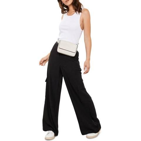 Mint Velvet Black Wide Utility Trousers