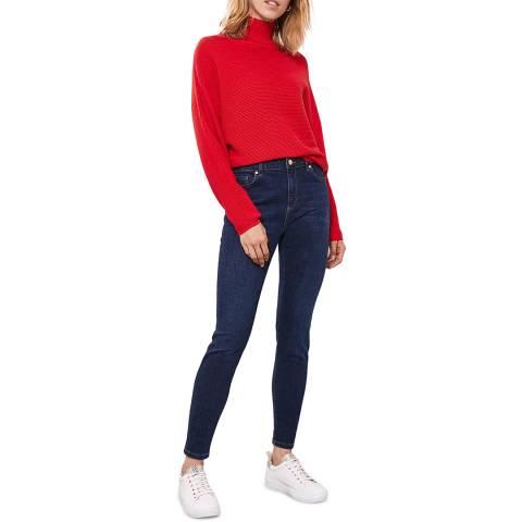 Mint Velvet Houston Dark Indigo Slim Jeans