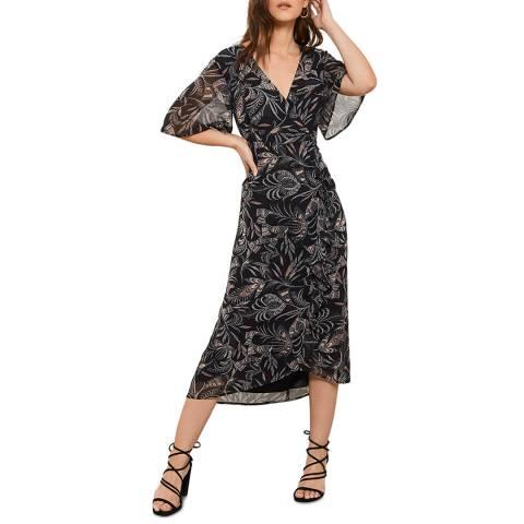 Mint Velvet Bella Print Ruched Midi Dress