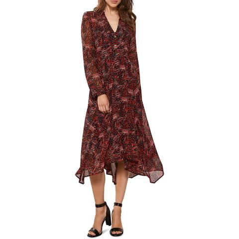 Mint Velvet Talia Print Midi Trapeze Dress
