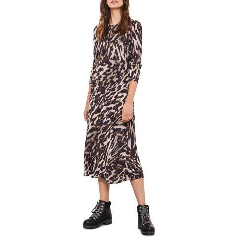 Mint Velvet Josie Leopard Print Midi Dress