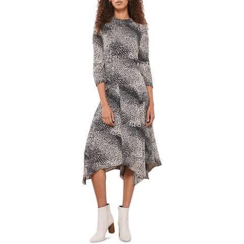 Mint Velvet Elora Print Trapeze Midi Dress