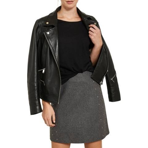 Mint Velvet Granite Marl Studded Skirt