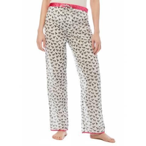 Cottonreal Ivory Super Voile Zebra Lounge Pants
