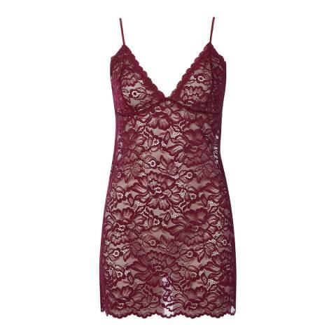 Cottonreal Cottonreal/Hays SuperFine Lace Jaquard Flora Chemise