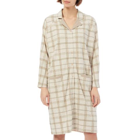 Cottonreal Cottonreal/Hays Check ButtonThru Lounger