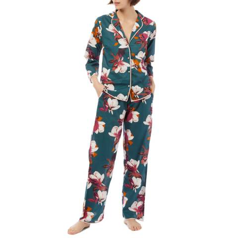 Cottonreal SuperLawn Grand Protea Flora L/Slv Revere PJ Set